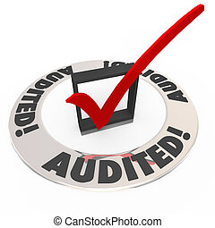 Audited Check Mark Box Financial Inspection Approval