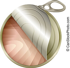 A topview of an open can - Illustration of a topview of an...