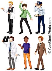 Men with different works - Illustration of the men with...