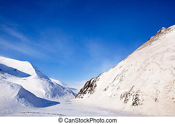 Svalbard Mountains - Mountains on the island of Spitsbergen,...