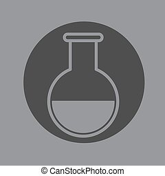 Chemical glass vector
