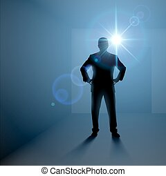 Man standing alone in the room