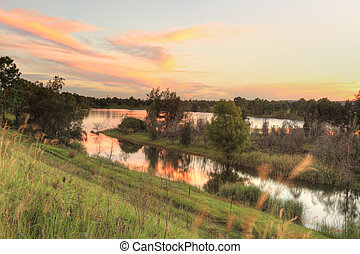 Sunset over Penrith Lakes NSW Australia - A beautiful sunset...