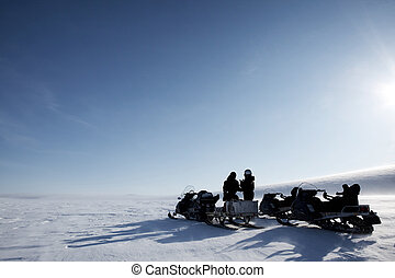Polar Expedition - A winter adventure guide on a barren...