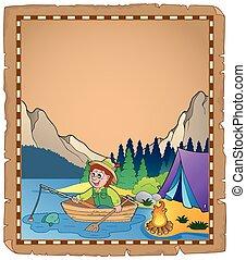 Pergaminho, pescador, 2
