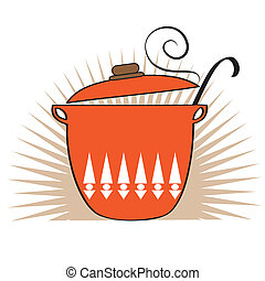 Cooking pan icon, vector illustration