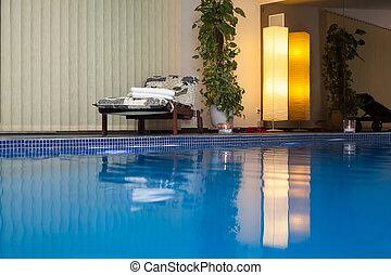 Wellness and Spa swimming pool - Interior of wellness and...