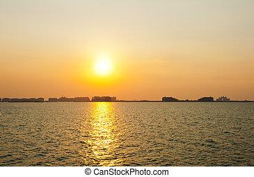 Dubai, solnedgång