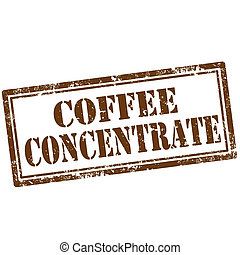 Coffee Concentrate-stamp - Grunge rubber stamp with text...