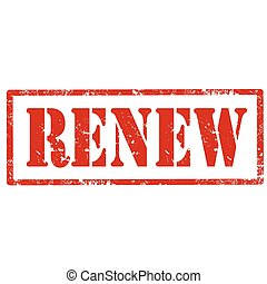 Renew-stamp - Grunge rubber stamp with text Renew,vector...