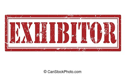 exhibitor stamp - exhibitor grunge stamp with on vector...