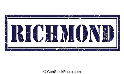 richmond stamp - richmond grunge stamp with on vector...