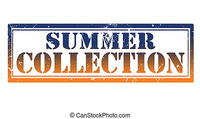 summer collection stamp