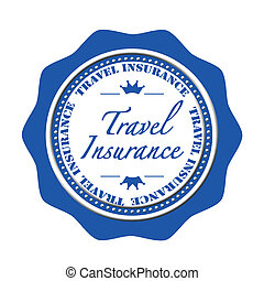 travel insurance stamp - travel insurance grunge stamp with...