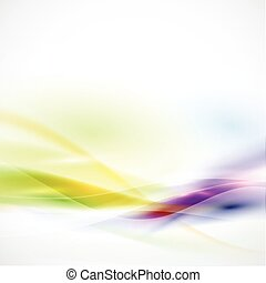 Abstract smooth colorful flow on white background, Vector...