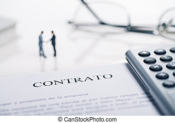 "Conclusion of a contract with the spanish word ""Contrato"""