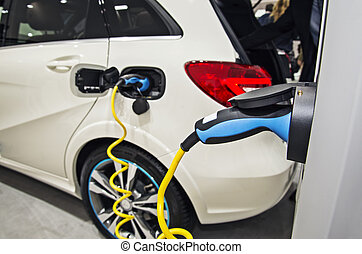 Electric car at the charging station