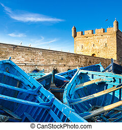 Essaouira - Magador, Marrakech, Morocco - Fishermans boats...