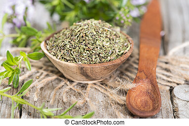 Heap of Winter Savory - Small heap of Winter Savory detailed...