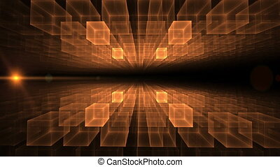 Orange Cubic Geometrical Horizon - orange cubic geometrical...