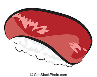 Tuna Sushi isolated on white