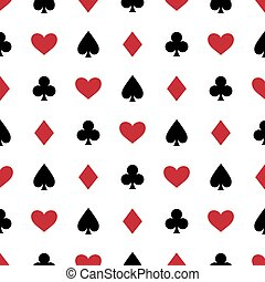 Seamless background with suits - Casino seamless background...