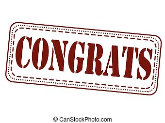 congrats stamp - congrats grunge stamp with on vector...