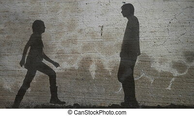 Vintage Couple Kissing Silhouette