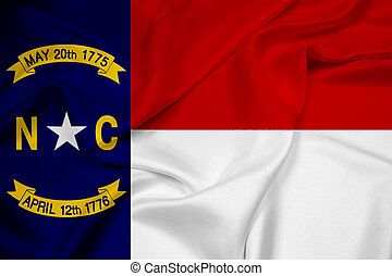 Waving North Carolina State Flag