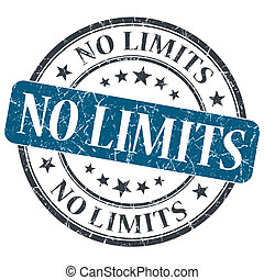 No limits blue round grungy stamp isolated on white...