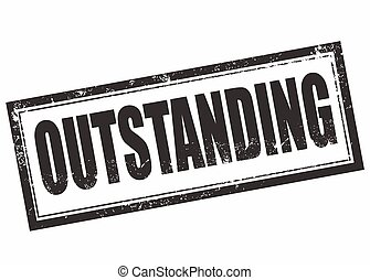 outstanding stamp - outstanding grunge stamp with on vector...