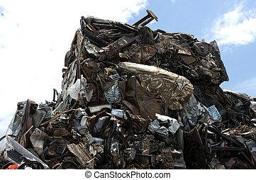 Junkyard 5 - Metal bales in a junkyard