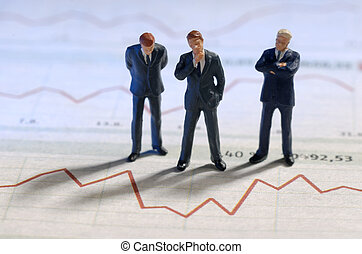 Business and stock price - Businesspeople are standing in...