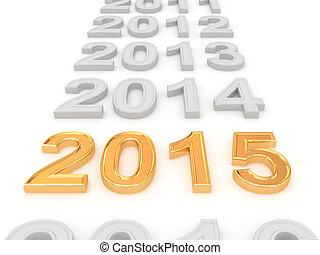 szczęśliwy, nowy, rok, 2015