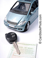 Car with key and registration