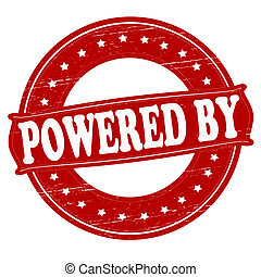 Powered by - Stamp with text powered by inside, vector...