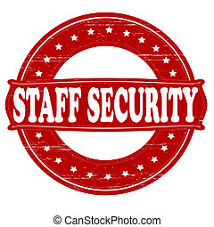Staff security - Stamp with text staff security inside,...