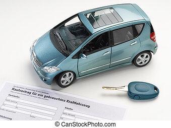 Auto, Verkäufe, Vertrag