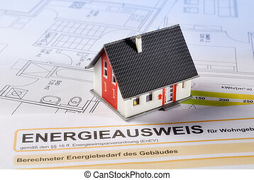 House and energy certificate - House with building plans and...