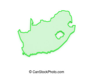 Map of Republic of South Africa RSA 3d