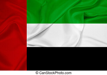 Waving United Arab Emirates Flag