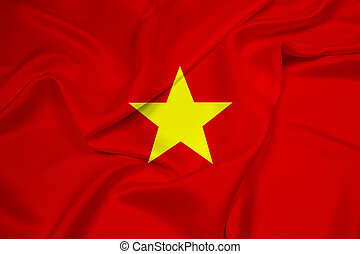 Waving Vietnam Flag