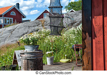 Summer in Sweden - a sunny day at Harstena island in the...