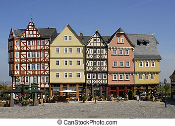 Half-timbered houses in Germany