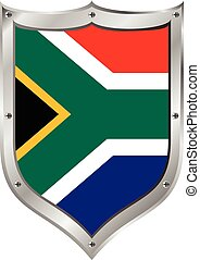 South Africa flag button. The colors of original.