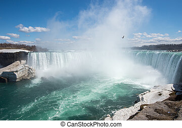 Niagara Falls - after a cold winter - Niagara Falls, Canada...