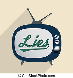 Lies - Concept for mass media, disinformation, propaganda...