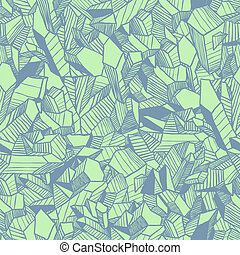 Vector pattern with crystals - Seamless vector pattern with...