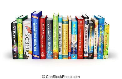 Bücherreihe clipart  Stock Foto von farbe, groß, buecher, stapel, gebundene ausgabe ...
