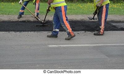 level asphalt road repair